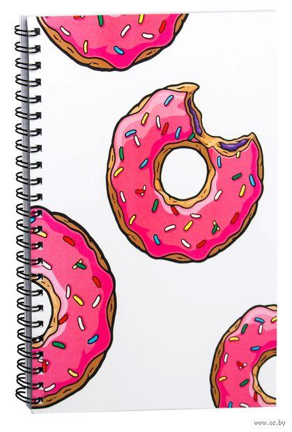"""Блокнот в клетку """"Пончик. Симпсоны"""" (A5; арт. 0001) — фото, картинка"""