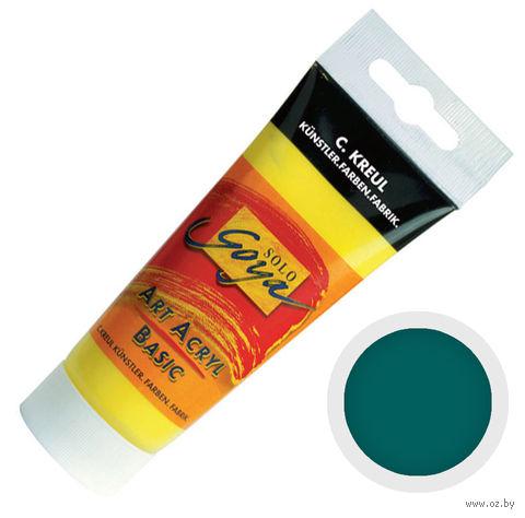 "Краска акриловая матовая ""Solo Goya Basic"" 19 (100 мл; темно-зеленый)"