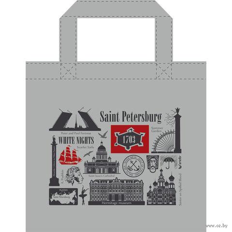 """Сумка """"Санкт-Петербург"""" (34x34 см; серая) — фото, картинка"""
