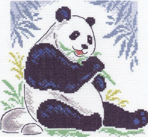 """Вышивка крестом """"Бамбуковый медведь"""" (210х200 мм) — фото, картинка"""