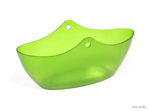 """Кашпо """"Wena"""" (35,5х13,5х16 см; прозрачное зеленое) — фото, картинка"""