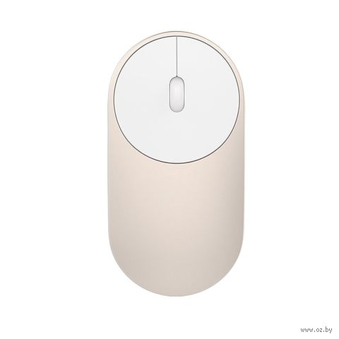 Мышь беспроводная Xiaomi Mi Portable Mouse (золотой) — фото, картинка