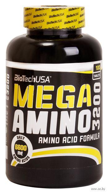 """Аминокислоты """"Mega Amino 3200"""" (100 таблеток) — фото, картинка"""