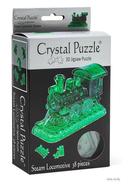 """Пазл-головоломка """"Crystal Puzzle. Паровозик"""" (38 элементов)"""