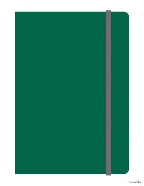 """Блокнот в клетку """"Elements"""" (А6; зеленый)"""