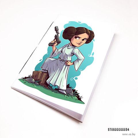 "Блокнот белый ""Звездные войны"" А7 (арт. 894)"