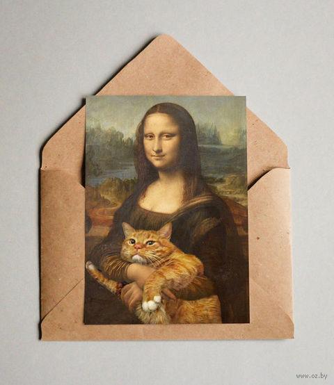 """Открытка """"Мона Лиза"""" (арт. 448) — фото, картинка"""