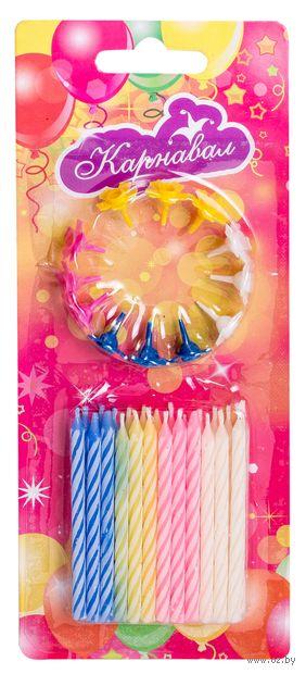 Набор свечей для торта с держателями (24 шт.; арт. NC-2412) — фото, картинка