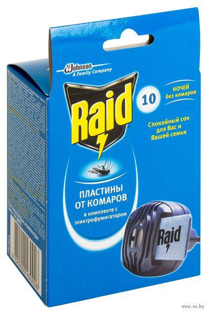 """Электрофумигатор с пластинами от комаров """"Raid"""" (10 пластин) — фото, картинка"""
