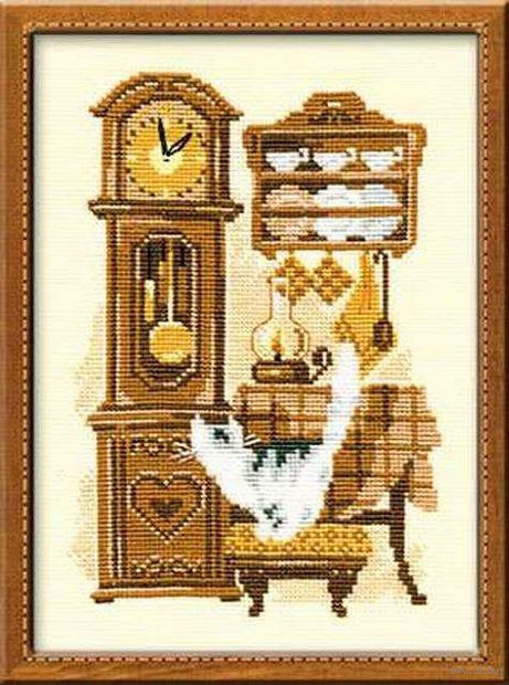 "Вышивка крестом ""Часы"" (180х240 мм) — фото, картинка"