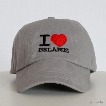 """Бейсболка Vitaem """"I LOVE BELARUS"""" (серая)"""