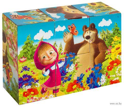"""Кубики """"Маша и Медведь"""" (6 шт)"""