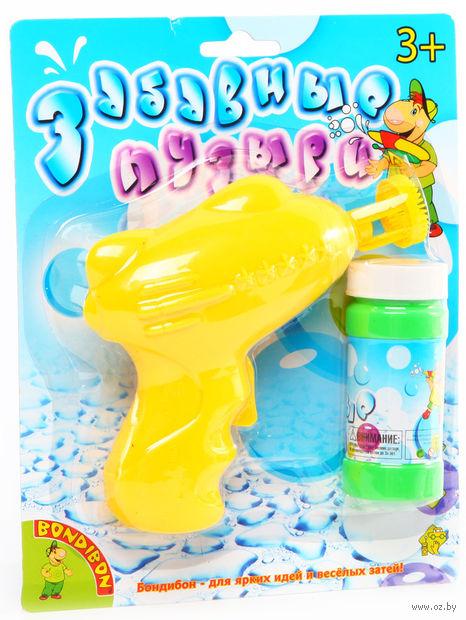"""Игрушка для выдувания мыльных пузырей """"Пистолет"""" (желтый)"""