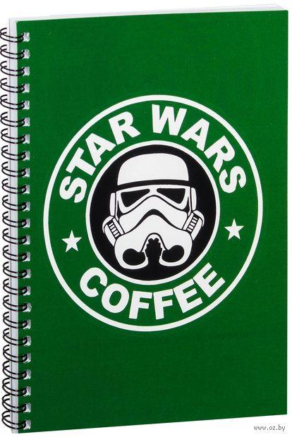 """Блокнот в клетку """"Звездные войны. Кофе"""" A5 (005)"""
