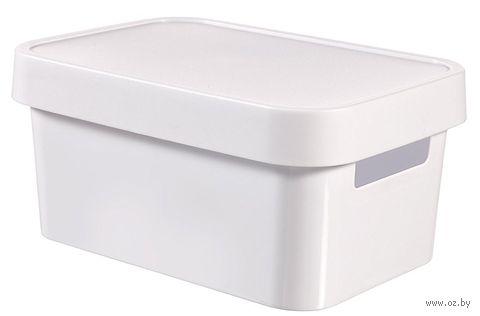 Ящик для хранения с крышкой (4,5 л; белый)