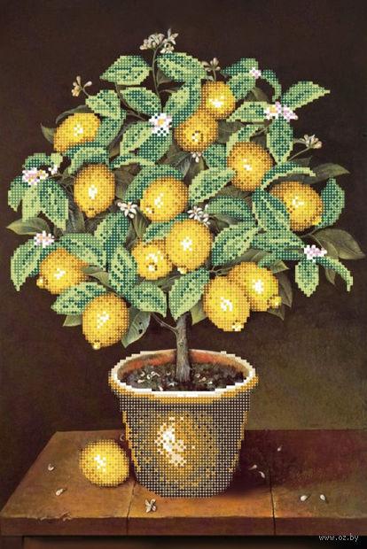 """Вышивка бисером """"Лимонное дерево"""" (280х400 мм) — фото, картинка"""