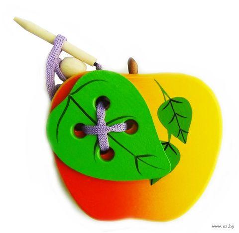 """Шнуровка """"Яблоко с листиком"""" — фото, картинка"""