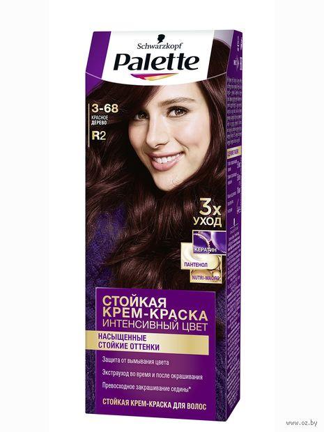 """Крем-краска для волос """"Интенсивный цвет"""" тон: 3-68, красное дерево — фото, картинка"""