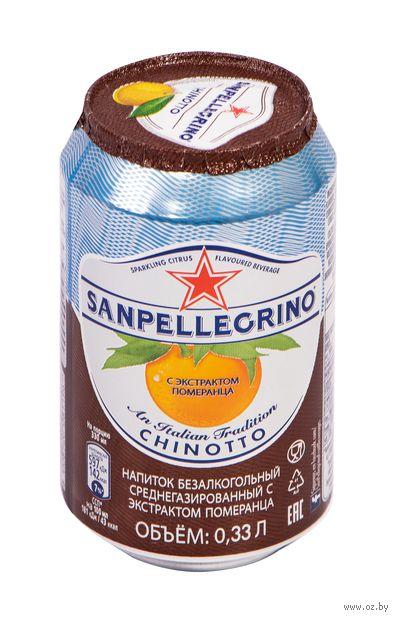 """Напиток газированный """"S. Pellegrino. Померанец"""" (330 мл) — фото, картинка"""