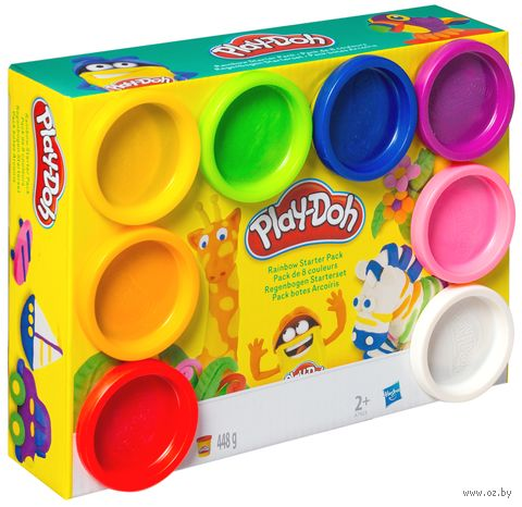"""Тесто для лепки """"Play-Doh"""" (8 цветов) — фото, картинка"""