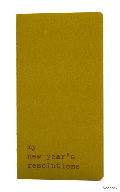 "Записная книжка в точку ""Chapter. My New Years Resolutions"" (95х180 мм; зеленая)"
