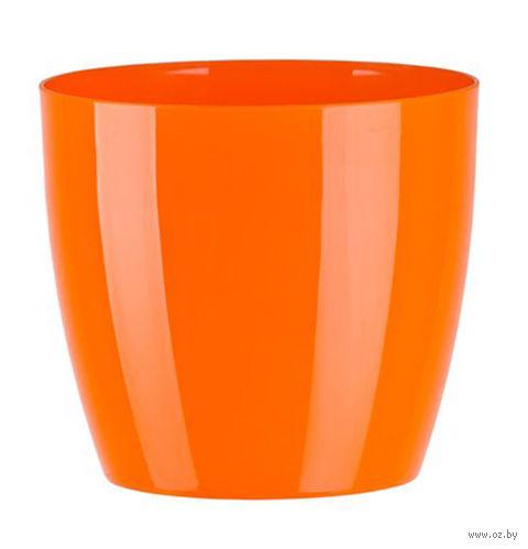 """Цветочный горшок """"Ага"""" (16 см; оранжевый) — фото, картинка"""