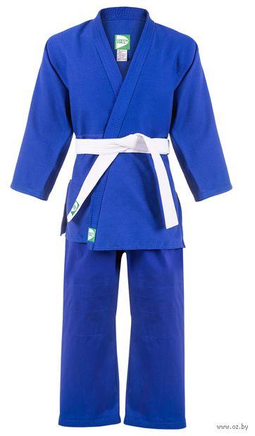 Кимоно дзюдо MA-302 (р. 2/150; синее) — фото, картинка