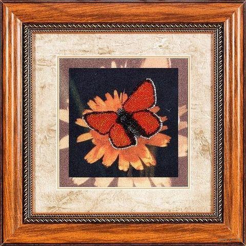 """Вышивка бисером """"Бабочка"""" (180х180 мм) — фото, картинка"""