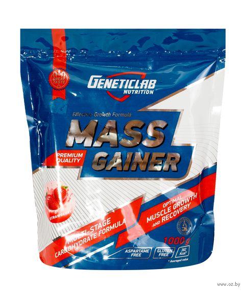 "Гейнер ""Mass Gainer"" (1 кг; клубника) — фото, картинка"