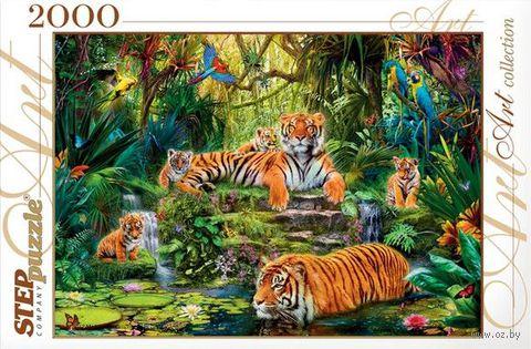 """Пазл """"В джунглях. Тигры"""" (2000 элементов)"""