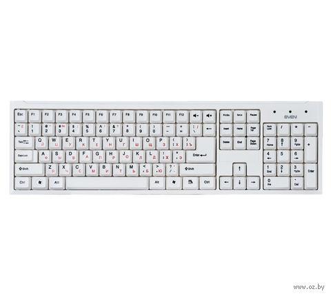 Клавиатура Sven Standard 303 (белая) — фото, картинка