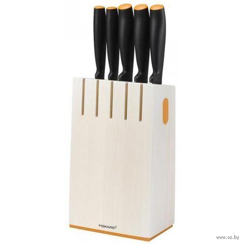 Набор ножей металлических в деревянной подставке (5 шт.; арт. 1014209)