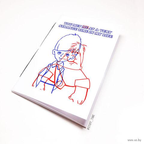 "Блокнот белый ""Бойцовский клуб. Карлсон"" А6 (499)"