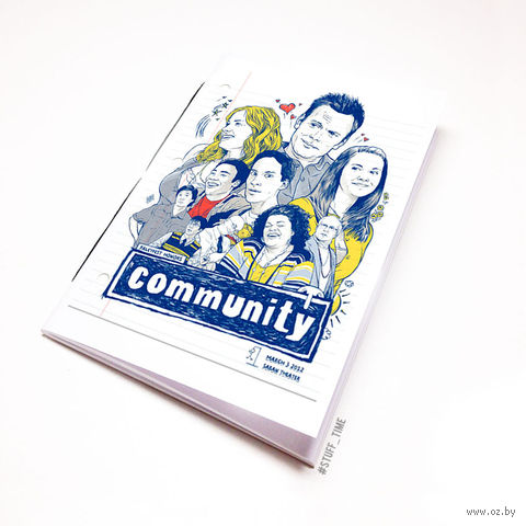 "Блокнот белый ""Community"" А5 (129)"