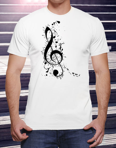 """Футболка мужская """"Music"""" L (art.17)"""