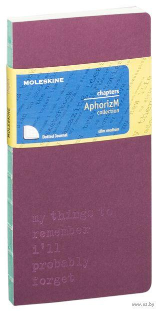 "Записная книжка Молескин ""Chapter. My Things to Remember"" в точку (средняя; мягкая фиолетовая обложка)"