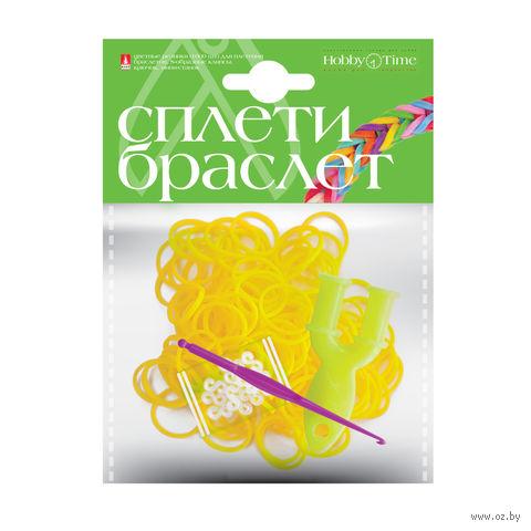 """Набор для плетения из резиночек """"Ярко-желтый"""" (1000 шт.) — фото, картинка"""