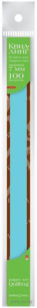 Бумага для квиллинга (300х7 мм; голубая; 100 шт.) — фото, картинка