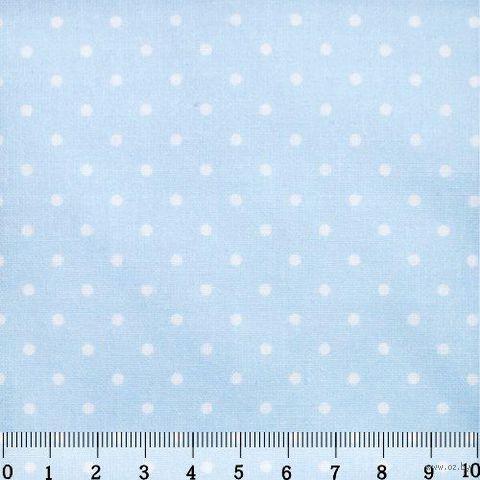 """Ткань """"Горошек"""" (48х50 см; небесный) — фото, картинка"""