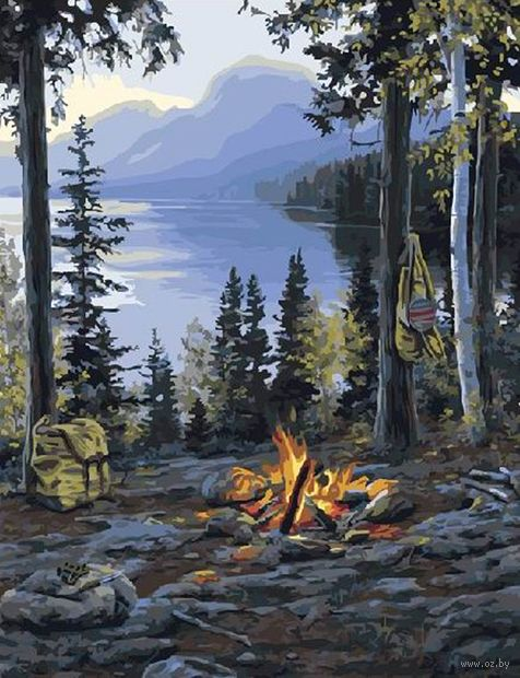 "Картина по номерам ""Пикник в горах"" (400х500 мм) — фото, картинка"