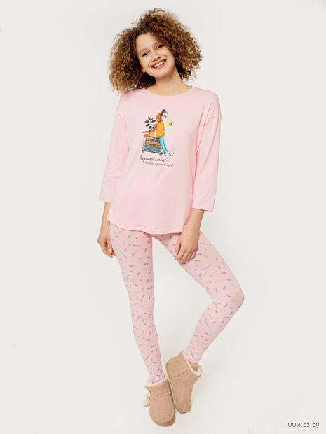 """Пижама женская """"592279"""" (розовый) — фото, картинка"""