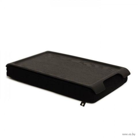 """Подставка с деревянным подносом """"Laptray"""" мини (венге, черная)"""