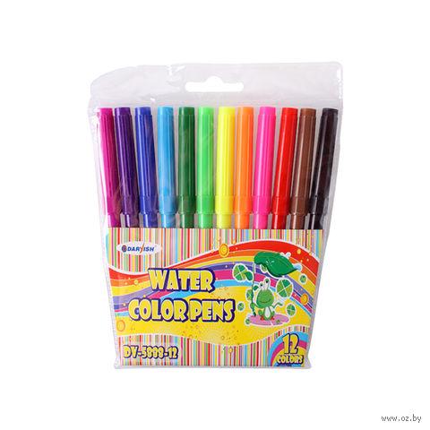 """Фломастеры """"Darvish"""" на водной основе (12 цветов; арт. DV-5888-12)"""