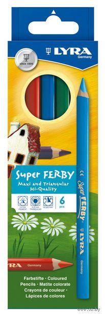 "Цветные карандаши ""SUPERFERBY"" (6 цветов)"