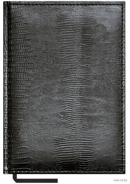 """Ежедневник недатированный """"Reptile"""" (А5; 160 листов; черный)"""