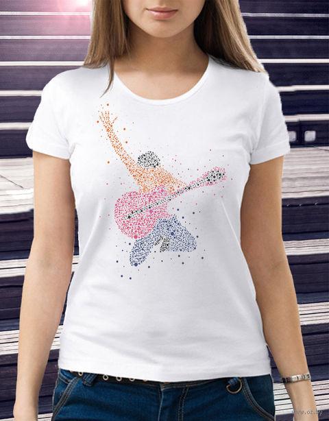 "Футболка женская ""Гитарист"" (размер 46; арт. 1) — фото, картинка"