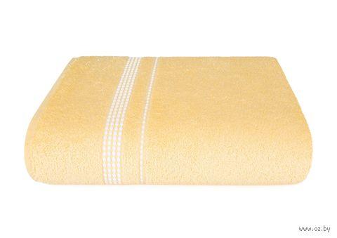 "Полотенце махровое ""Лето"" (70х140 см; светло-желтое) — фото, картинка"