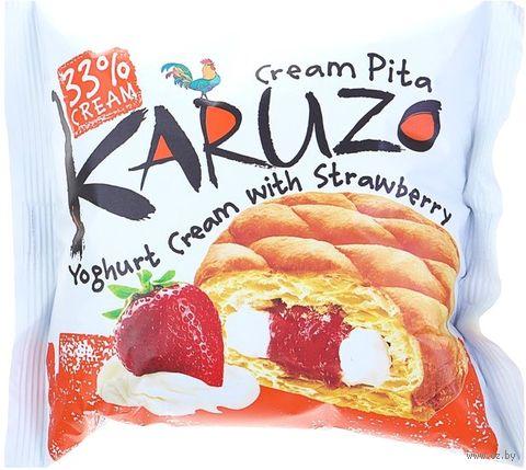 """Пирожное """"Karuzo. Yoghurt with Strawberry"""" (62 г) — фото, картинка"""