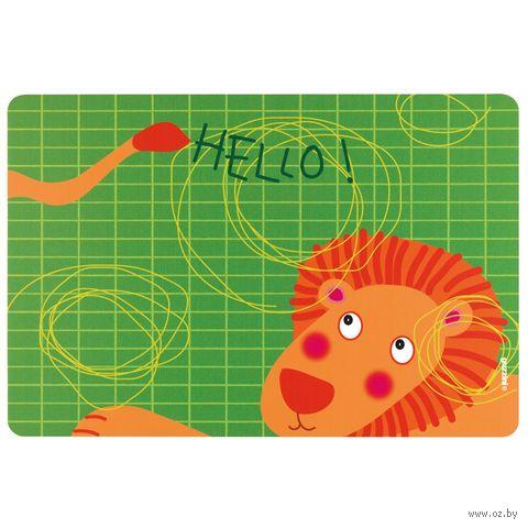 "Подставка сервировочная пластмассовая ""Hello. Лев"" (435х297 мм) — фото, картинка"