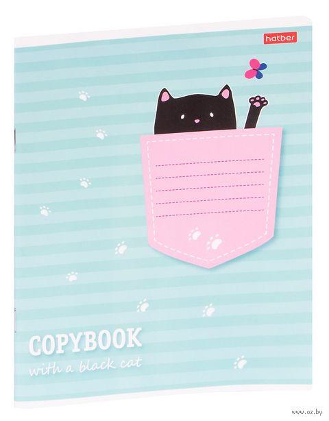 """Тетрадь в клетку """"Котик в кармашке"""" (12 листов; продается только в розничных магазинах OZ) — фото, картинка"""